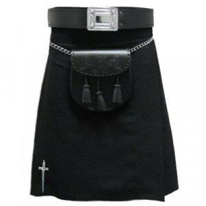 New Traditional Black Tartan kilt