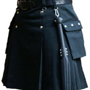 New Latest Navy Blue Scottish Fashion Utility Kilts