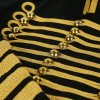 Black Gold Hussar Parade Gothic Jacket Military Drummer Steampunk