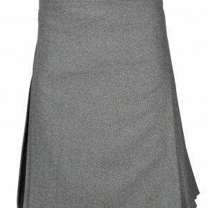 Highland Traditional Scottish premium quality 8 Yard Professional Gray Wool Kilt