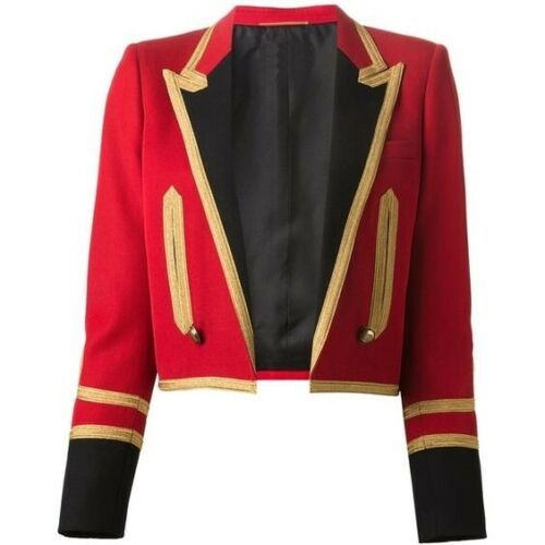 Women Military Jacket Officer Blazer Spencer Coat