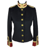 Women Wool Military hussar Jacket Army Officer Band Coatc