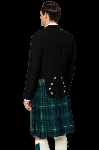 Scottish Mens Prince Charlie Kilt Jacket with Waistcoat/Vest