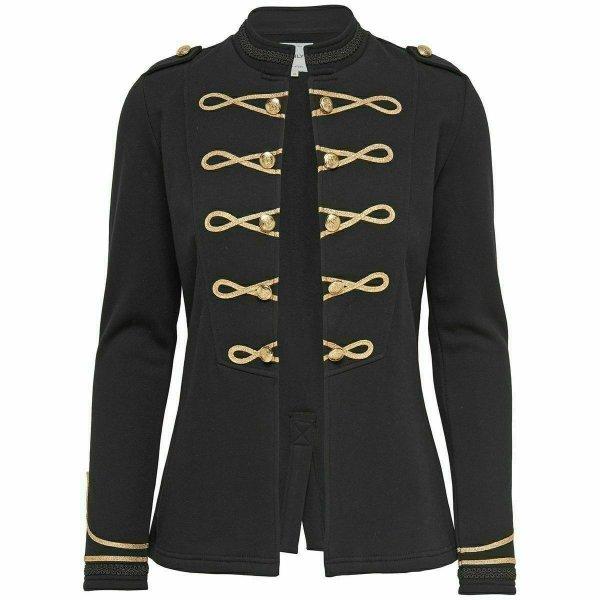 Black Ladies Officer's Jacket WOOL Jackets Ralph Lauren Braid Jacket