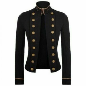Black Ladies Officer's Wool Jackets Braid Jacket
