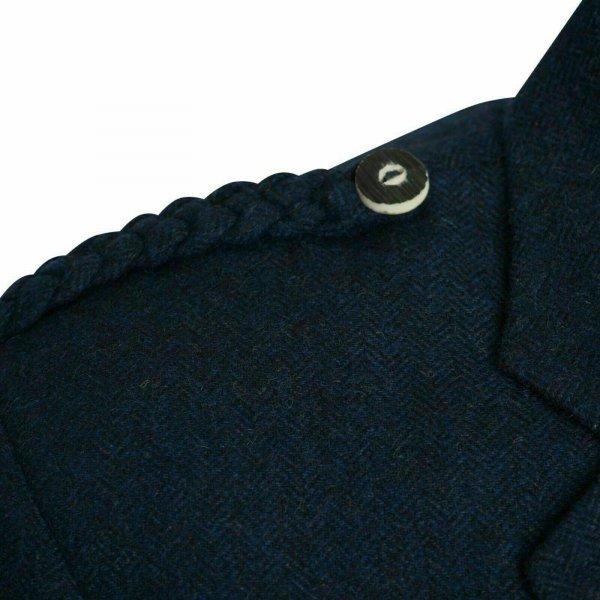 Tweed Crail Highland Blue Kilt Jacket and Waistcoat Scottish