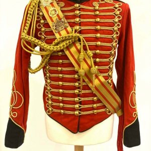 New Men's 5 pcs Ceremonial Hussar Officers jacket with Aiguillette