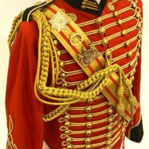 New Men's 5 pcs Ceremonial Hussar Officers jacket with Aiguillette