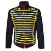 Mens black hussar jacket front gold braid Jacket fast shipping