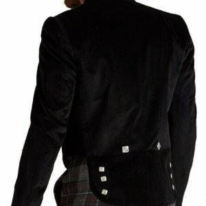 Custom Made New Prince Charlie Kilt Jacket Scottish Velvet Prince Charlie Jacket