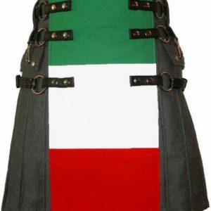 New Great Fashion Italian Flag Kilt